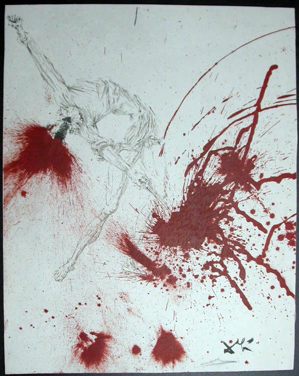 Salvador Dali - Don Quichotte de la Mancha, Book A - 1957 - Les Outres de vin The Wine Casks